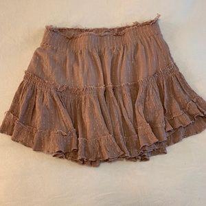 Cotton Candy LA Tiered Ruffle Mini Skirt